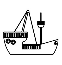 Figure ship maritime transpotation vector
