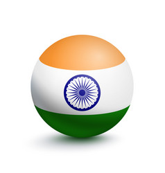 flag of india in the form of a ball vector image