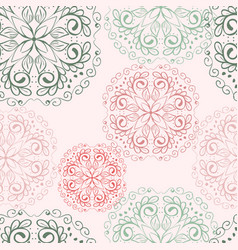 Floral mandala flower seamless pattern vector