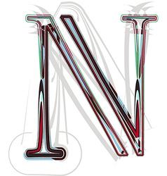 Font Letter N vector