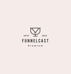 Funneling podcast logo hipster retro vintage icon vector