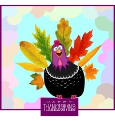Funny turkey thanksgiving day vector