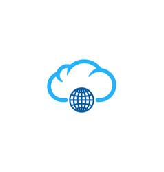 globe weather and season logo icon design vector image