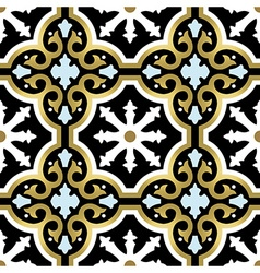 Gold ornamental seamless pattern in vintage style vector image