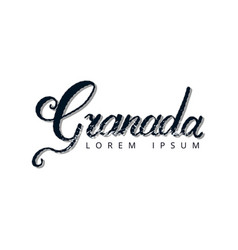 granada hand lettering logo vector image