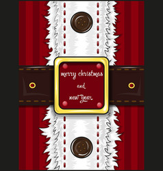 greetings card merry christmas and happy new year vector image