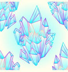 hand drawn crystal gem seamless pattern geometric vector image