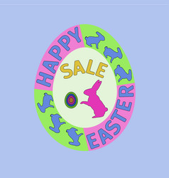 happy easter day sale card vector image