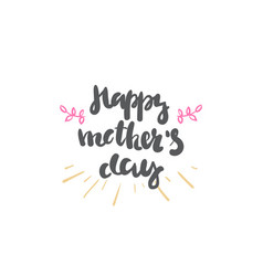 happy mother day logo isolated hand drawn vector image