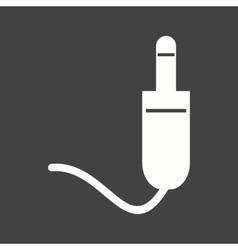 Headphones Pin vector