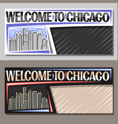 Horizontal layouts for chicago vector