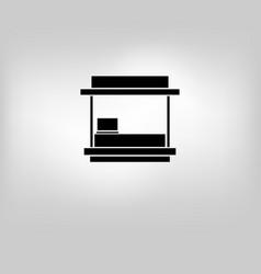 Icon store kiosk vector
