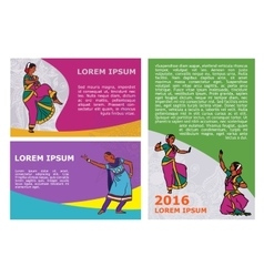 Indian dancers poster template vector