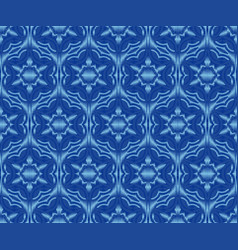 Indigo dyed ikat seamless pattern creative vector