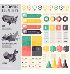Infographic Elements Set with maps of the vector image