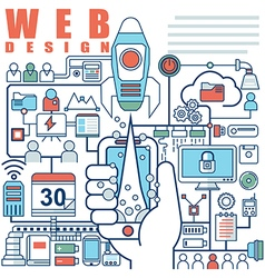 infographics elements concept web design vector image