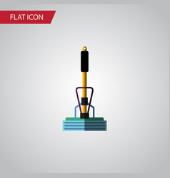 isolated equipment flat icon broom element vector image