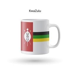 KwaZulu flag souvenir mug on white background vector image vector image