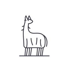 lama line icon concept lama linear vector image