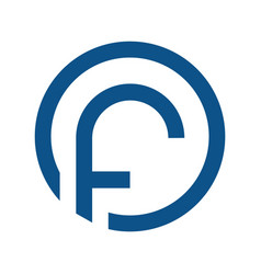 letter f with circle logo vector image