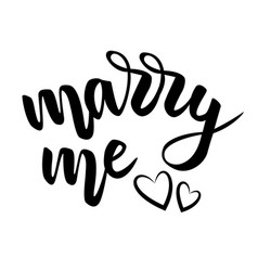 Lettering marry me on white vector