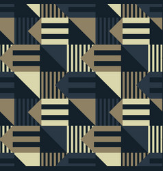 Light and shade geometric seamless pattern vector