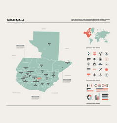 Map guatemala high detailed country vector