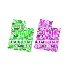 map of utah vector image