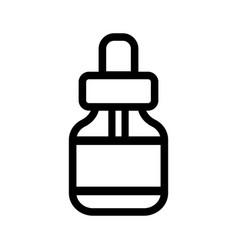 medicine dropper icon vector image