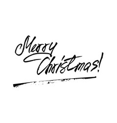 merry christmas hw lettering vector image