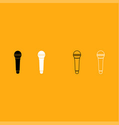 microphone it is white icon vector image