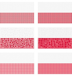 Mosaic Poland flag set vector