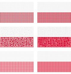 Mosaic Poland flag set vector image