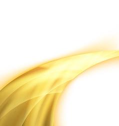 Orange power swoosh ray wave glare vector image