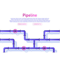pipeline design background vector image