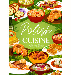 Polish food restaurant meals poster vector