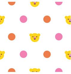 polka dot seamless pattern with bright circles vector image