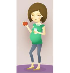 pregnancy nutrition vector image