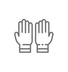 protective rubber gloves tattoo studio accessory vector image
