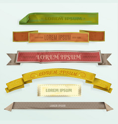 scrapbooking ribbons elements vector image
