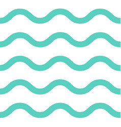 Sea waves seamless pattern vector