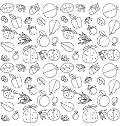 Seamless pattern of fruit vector