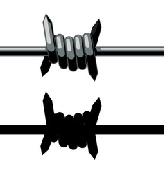 sharp barbed wire vector image
