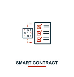smart contract icon creative two colors design vector image