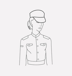 soldier icon line element of vector image