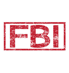 Stamp text fbi vector