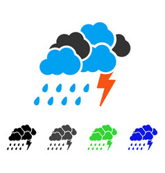 Storm flat icon vector