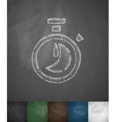 Timer icon hand drawn vector
