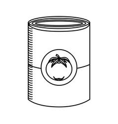 Tomato can comic pop art vector