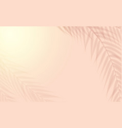 tropical leaves natural shadow overlay vector image